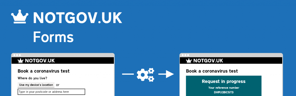 Header Image showing a sample GOV.UK service logo, and two images further down
